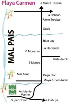 Mal Pais a Costa Rica small town - The Map Mal Pais
